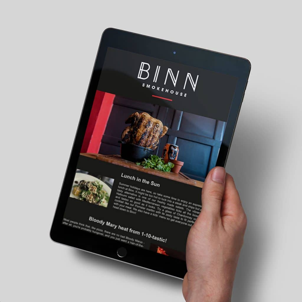 Restaurant Newsletter Design