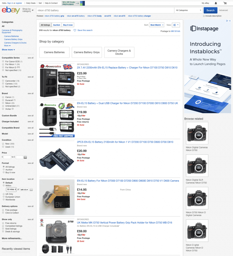 e-commerce product page