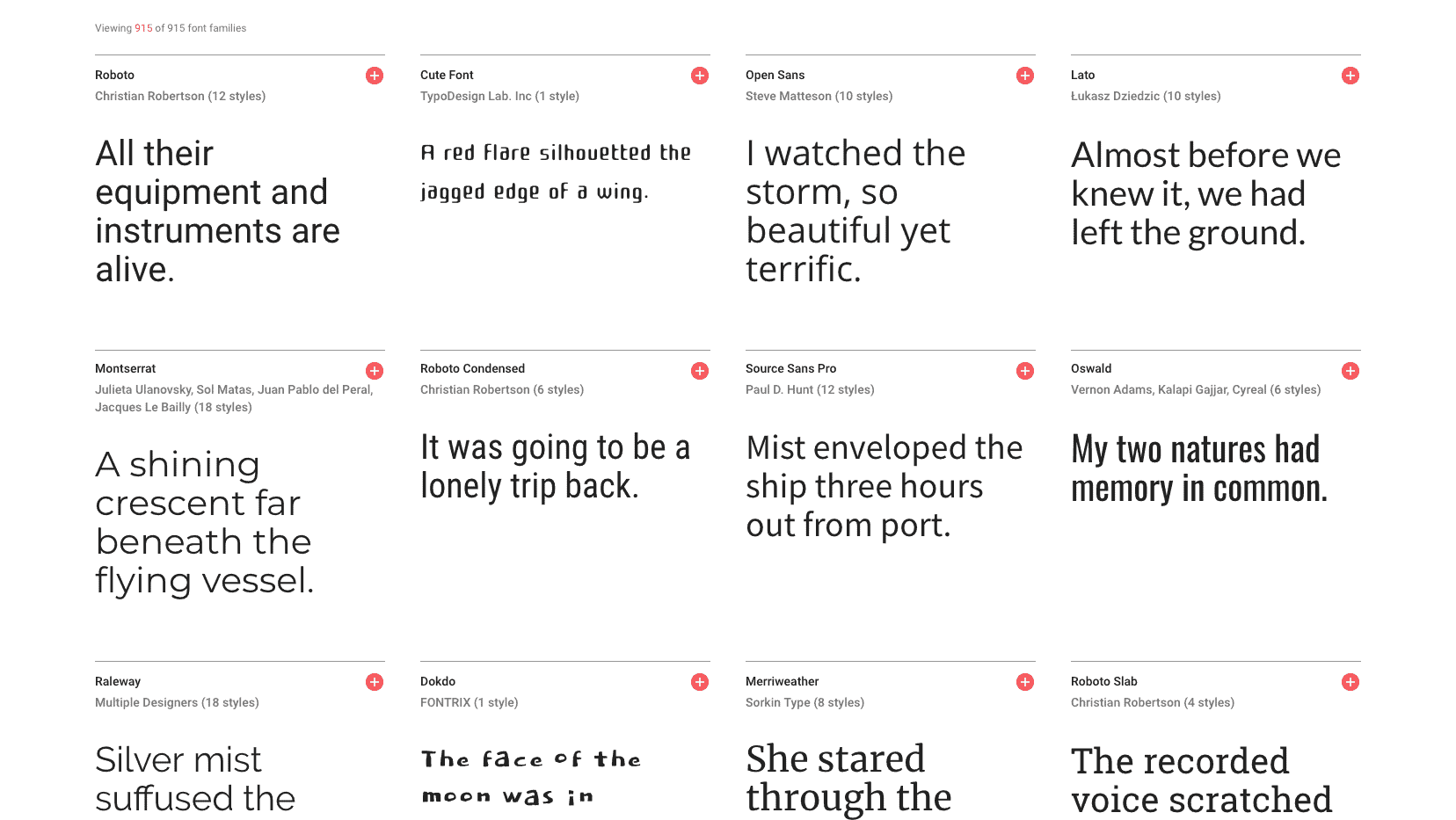 install all google fonts