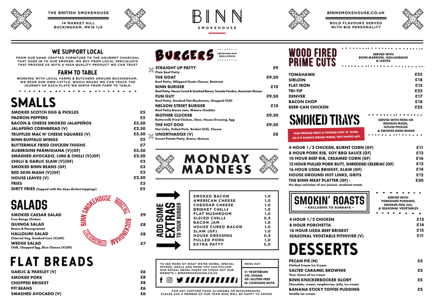 menu graphic design