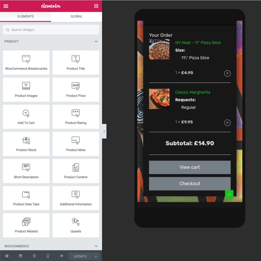 Restaurant takeaway website design