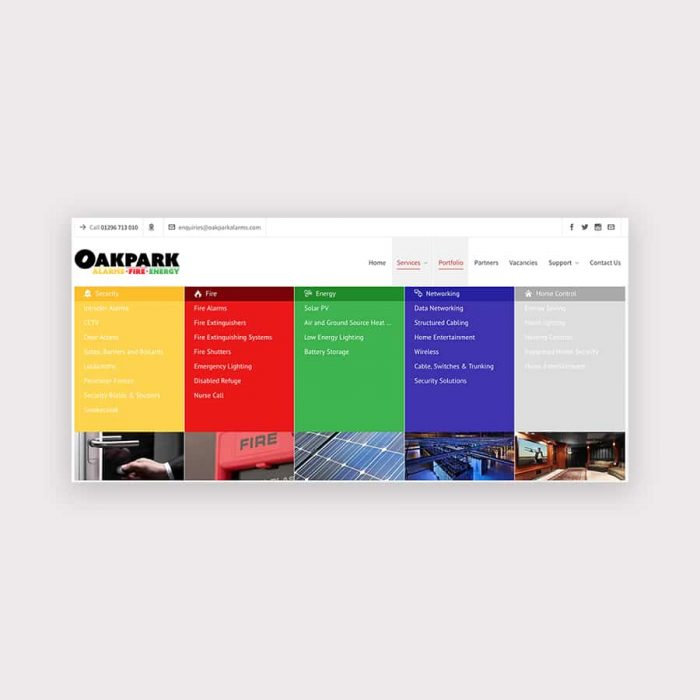 oakpark website megamenu