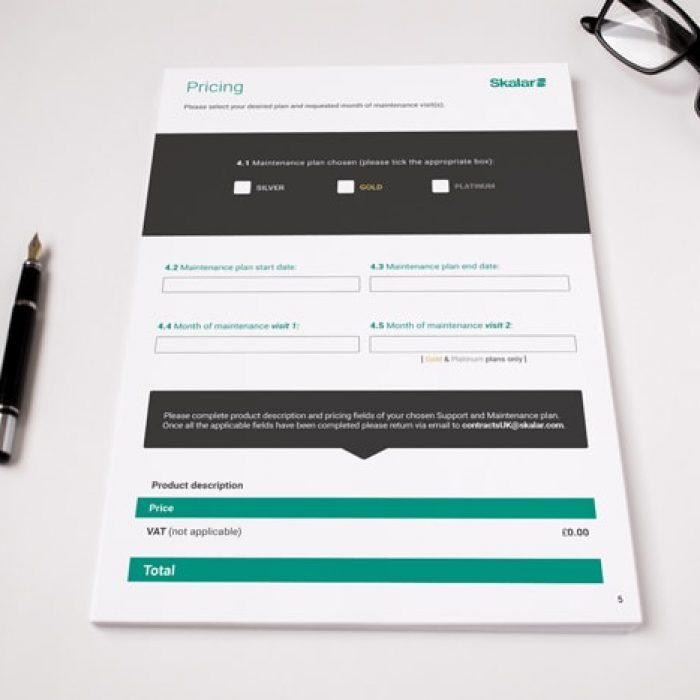 Skalar Brochure Design